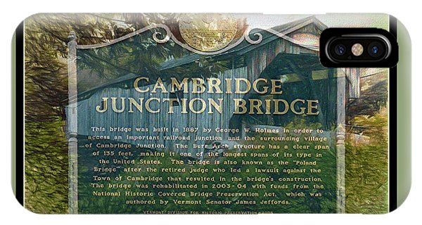 Cambridge Jct. Bridge History IPhone Case