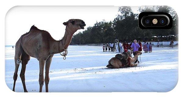 Exploramum iPhone Case - Camel On Beach Kenya Wedding 5 by Exploramum Exploramum