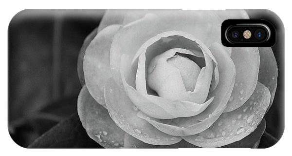 Camellia Black And White IPhone Case