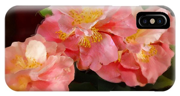 Camellias 1cmods1b Digital Painting Gulf Coast Florida IPhone Case