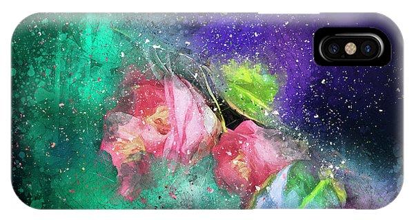 Camellias In A Galaxy Far Far Away IPhone Case