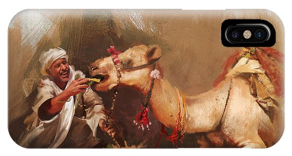 Camels And Desert 13 IPhone Case