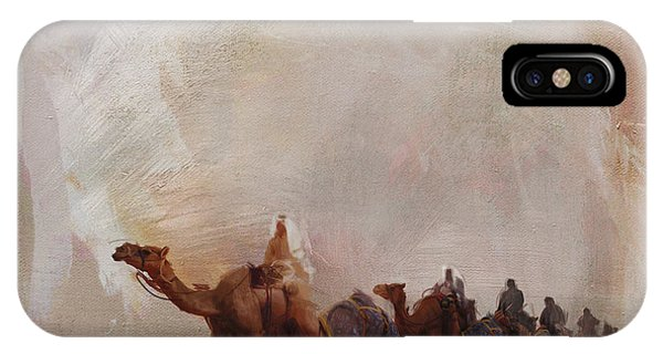 Camels And Desert 15 IPhone Case