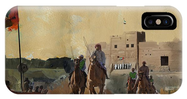 Camels And Desert 31 IPhone Case
