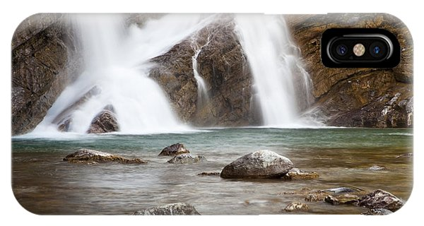 IPhone Case featuring the photograph Cameron Falls In Waterton Lakes National Park by Bryan Mullennix
