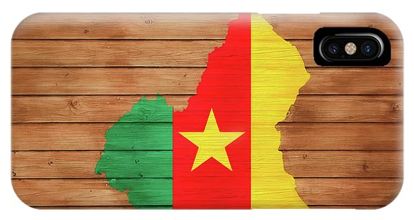 Traveler iPhone Case - Cameroon Rustic Map On Woo by Dan Sproul