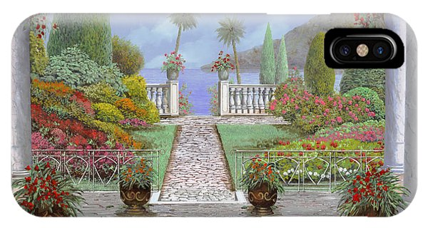 Columns iPhone Case - Camminando Verso Il Lago by Guido Borelli