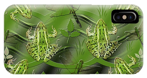 Camo Frog Dragonfly IPhone Case
