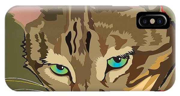 Camouflage Bengal Cat Square IPhone Case