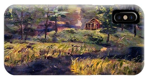 Camp At Efner Lake Brook IPhone Case