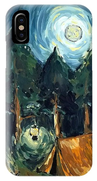 Camp At Night IPhone Case
