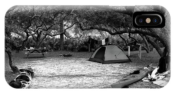 Camp Under Live Oaks IPhone Case