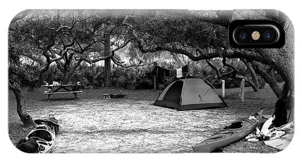 Camp Under Live Oaks IPhone Case