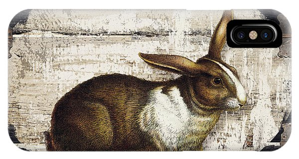 Farm iPhone Case - Campagne Iv Rabbit Farm by Mindy Sommers