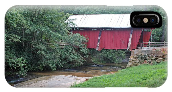 IPhone Case featuring the photograph Campbell's Covered Bridge 1 by Joseph C Hinson Photography