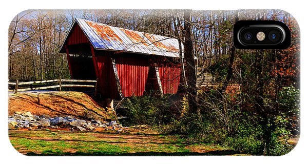 IPhone Case featuring the photograph Campbell's Covered Bridge Est. 1909 by Lisa Wooten