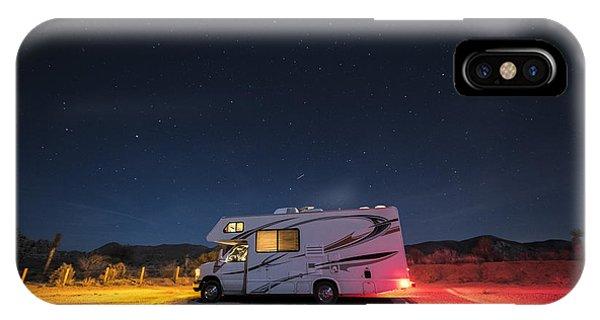 Caravan iPhone Case - Camper Under A Night Sky by Juli Scalzi
