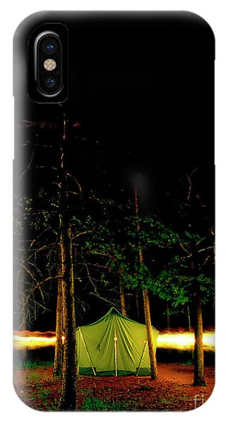 Camping In The Deep Woods   IPhone Case
