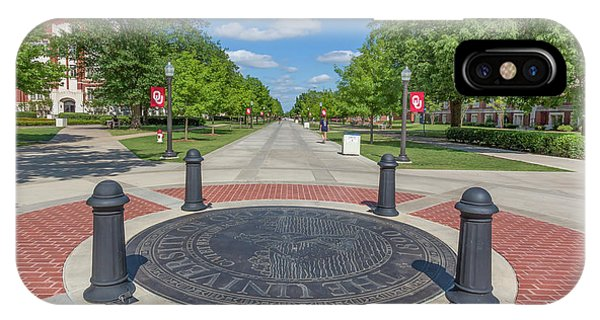 Oklahoma University iPhone Case - Campus Seal On The Campus Of The University Of Oklahoma by Ken Wolter