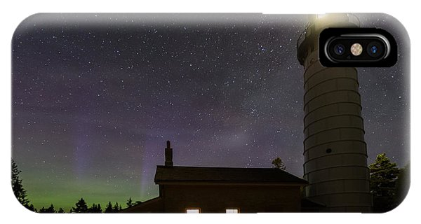 IPhone Case featuring the photograph Cana Island Northern Lights by Paul Schultz