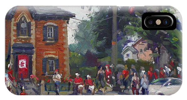 Glen iPhone Case - Canada Day Parade At Glen Williams  On by Ylli Haruni