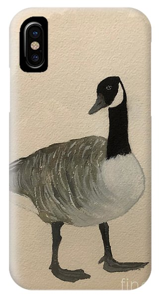 IPhone Case featuring the painting Canada Goose by Donald Paczynski