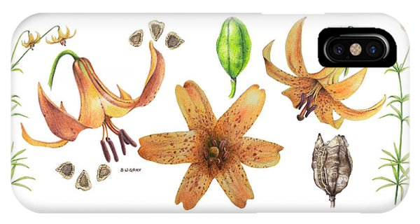 Canada Lily Collage IPhone Case