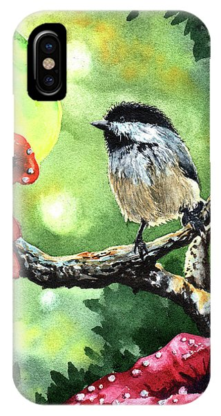 Aztec iPhone Case - Canadian Chickadee by Timithy L Gordon