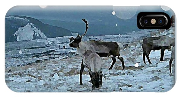 iPhone Case - Canadian Elk By Moonlight by Raven Hannah