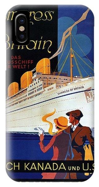 Advertising iPhone Case - Canadian Pacific - Hamburg-berlin - Empress Of Britain - Retro Travel Poster - Vintage Poster by Studio Grafiikka