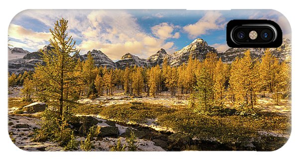 Canadian Rockies Golden Larches In Larch Valley IPhone Case