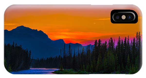 Canadian Rocky Sunset IPhone Case