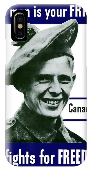Army iPhone Case - Canadian This Man Is Your Friend by War Is Hell Store
