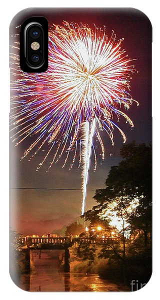 Canal View Of Fire Works IPhone Case