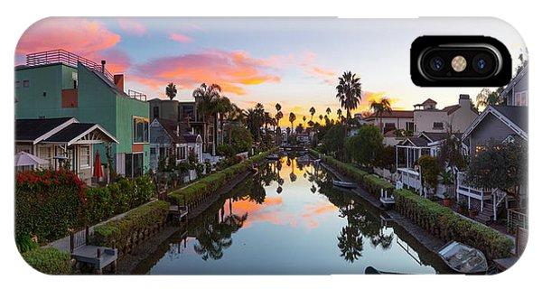 Venice Beach iPhone Case - Canals Of Venice Beach by Sean Davey