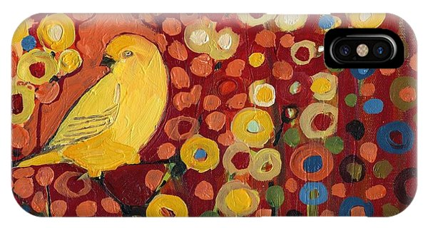 Animal iPhone Case - Canary In Red by Jennifer Lommers