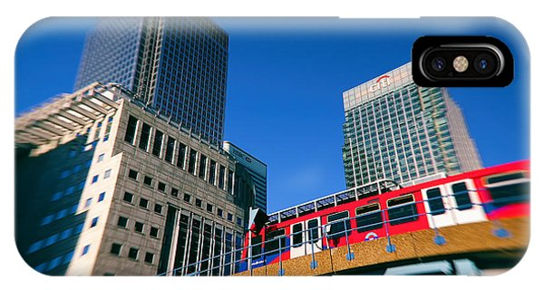 Canary iPhone Case - Canary Wharf Commute by Jasna Buncic