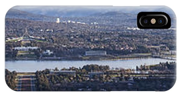 Canberra Panorama From Mt Ainslie IPhone Case