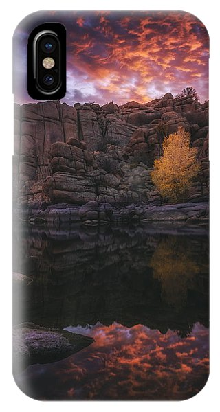 Candle Lit Lake IPhone Case