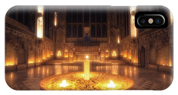 IPhone Case featuring the photograph Candlemas - Lady Chapel by James Billings