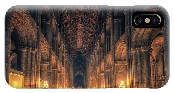 IPhone Case featuring the photograph Candlemas - Nave by James Billings
