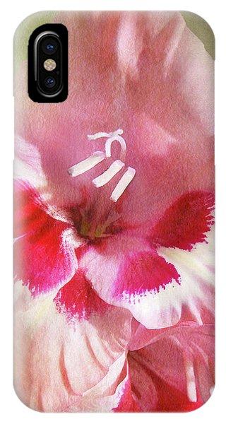 Candy Cane Gladiola IPhone Case