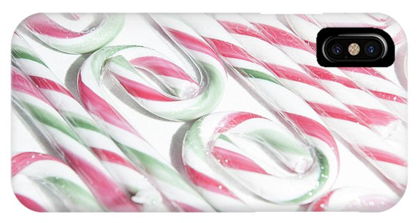 Candy Cane Swirls IPhone Case