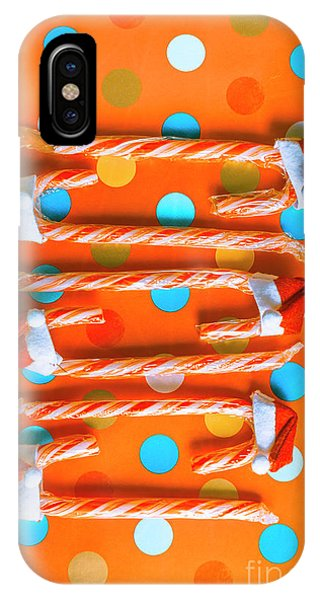 Xmas iPhone Case - Candy Canes And Christmas Hats by Jorgo Photography - Wall Art Gallery
