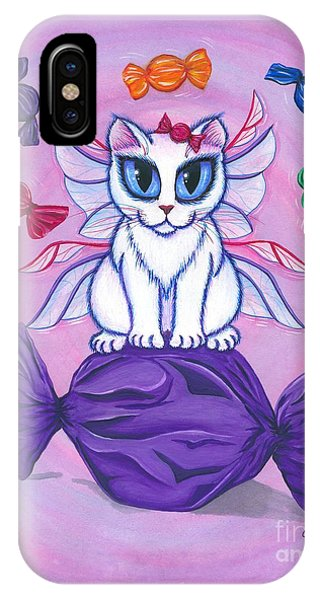 Candy Fairy Cat, Hard Candy IPhone Case