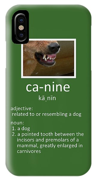 Canine Poster IPhone Case