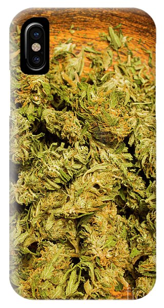 Close-up iPhone Case - Cannabis Bowl by Jorgo Photography - Wall Art Gallery