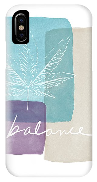 Cannabis Leaf Watercolor 3- Art By Linda Woods IPhone Case