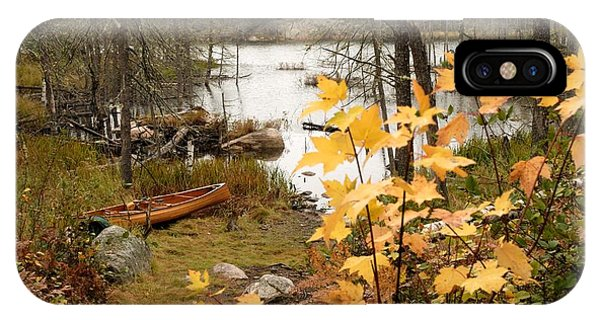 Canoe At Little Bass Lake IPhone Case