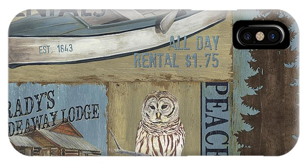 Hunting iPhone Case - Canoe Rentals Lodge by Debbie DeWitt
